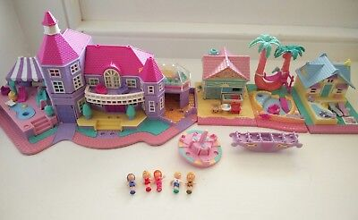 Vintage polly pocket houses with tiny figures adorable miniature town