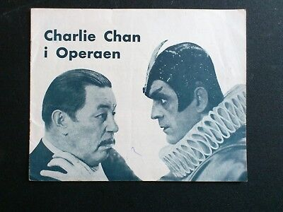 "Danish movie program.""Charlie Chan at The Opera"" 1936.Warner Oland.Boris Karloff"