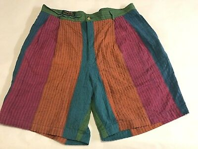 Vintage Colours by Alexander Julian Color Blocked Shorts Sz 36