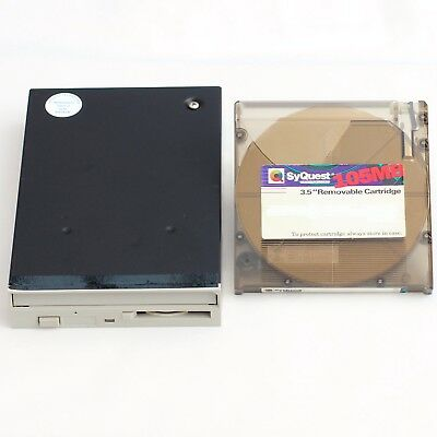 "Syquest SQ3105S Internal 3.5"" 105MB SCSI 50 Pin Disk Drive + 105MB Cartridge"
