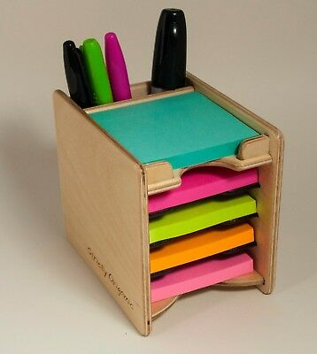 """Sticky Notes Post-it Pad and Pen Holder (includes 5 pads 3"""" x 3"""")"""