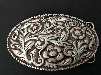 New Western Flowers Belt Buckle