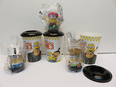 Despicable Me 3 Minions Cup Toppers Toy figures Set of 3