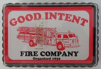 Good Intent Fire Company Playing Cards