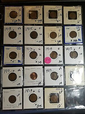 Lincoln One Cent Mixed Lot P4