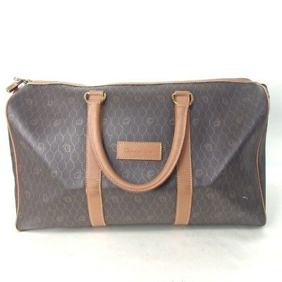 Authentic Christian Dior  Boston bag Leather/Inside: Canvas[Used]