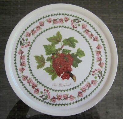 vintage PORTMEIRION The Red Currant - POMONA melamine 33cm ROUND TRAY