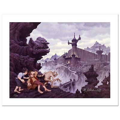 GREG HILDEBRANDT Lord Of The Rings SIGNED GICLEE on CANVAS LOTR HOBBIT Gollum