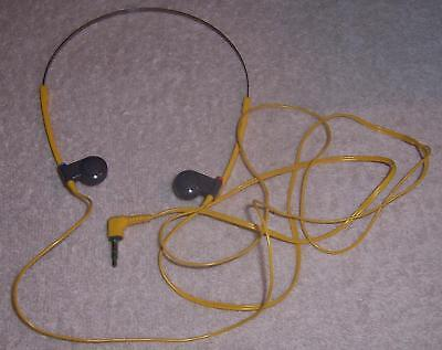 Vintage Sony Stereo Headphones MDR -W15 for yellow sports walkman