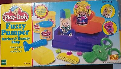 Vintage Play-Doh  Fuzzy Pumper Barber & Beauty 1996 All Original