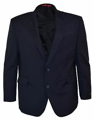 SCOTT Mens Slim Fit Plain Navy Jacket