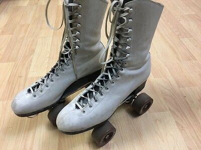 Vintage Riedell Red Wing Minnesota Leather Roller Skates Chicago Size 7