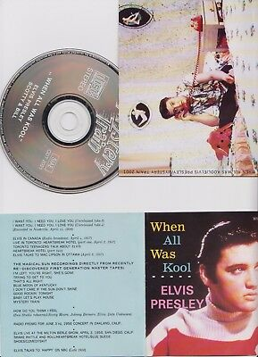 Elvis Presley When All Was Cool Cd