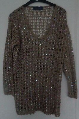 Debenhams size M crochet and sequin top