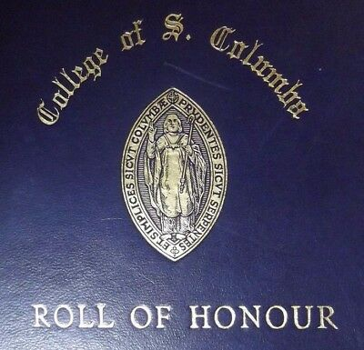 COLLEGE OF ST COLUMBA ROLL OF HONOUR 1914-18  Original copy
