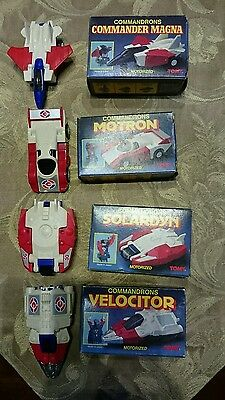 McDonalds 1985 Complete Set Of Four Tomy Tranformer Collectibles