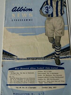 West Bromwich Albion V Manchester United 57-8 Munich Season Busby Babes
