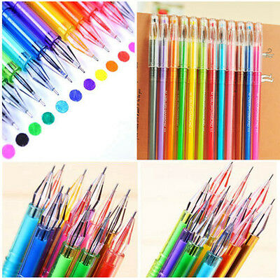 12Pcs Small Rollerball Gel Pen Colorful Crystal Creative Ballpoint Stationery