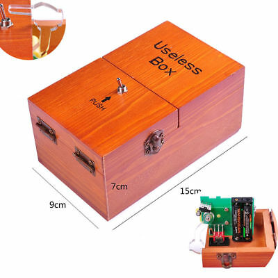 Wooden Useless Box Leave Me Alone Interesting Pastime Machine Kit Fun Gift Toys