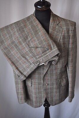 """Vintage 1970's green check 2 piece flared suit size chest 40"""" Waist 34"""" Rare"""