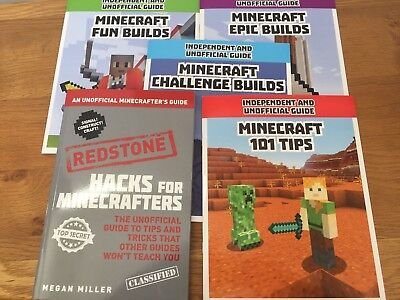 Minecraft unofficial book bundle: 1 x Redstone hacks guide and 4 x tips & builds