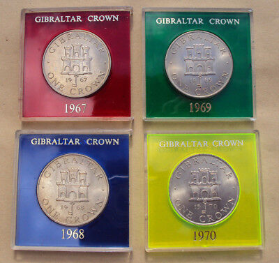 Gibraltar Crowns in case - choice of dates