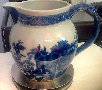 Large Vintage Victoria Ware Ironstone blue and white Jug