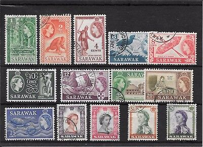 Sarawak P417 Cancelled Collection Of 1955 Qe11 Stamps Val 12.65 2007