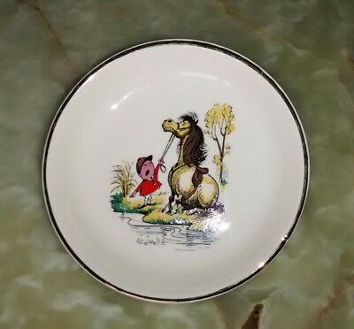 Norman Thelwell Illustration Gray's' vintage pony collectors plate dish 1967