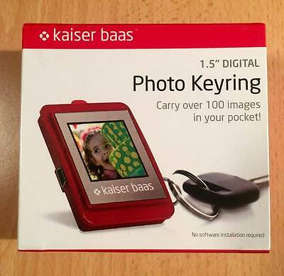 "Kaiser Baas 1.5"" Digital Photo Keyring - Red"