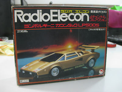 Vintage Radio Elecon Shinsei Lamborghini Countach Die Cast Rc Made In Japan-New
