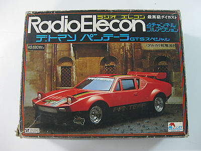 Vintage Radio Elecon Shinsei-De Tomaso Pantera Gt-55-R/c Made In Japan-New!!