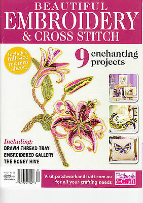 Embroidery & Cross Stitch Magazine V 21 No 12 Floral Crewel Stumpwork Hardanger