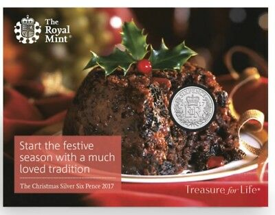 SIX PENCE # NEW COIN # UK 2017 Christmas UNCIRCULATED SILVER