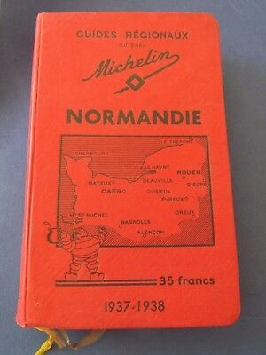 Guide Régionaux MICHELIN  NORMANDIE  1937-1938