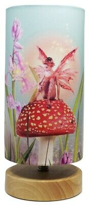 Fairy bedside table lamp night light lampshade girls bedroom fairy bedside table lamp night light lampshade girls bedroom woodland nursery mozeypictures Gallery