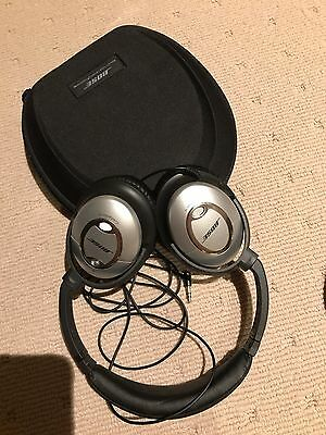 Bose QuietComfort 15 Noise Cancelling Cable Headphones - Black/Silver