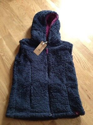 Blue Harry Hall Girls Fluffy Fleece Gilet Age 5 To 6 Years