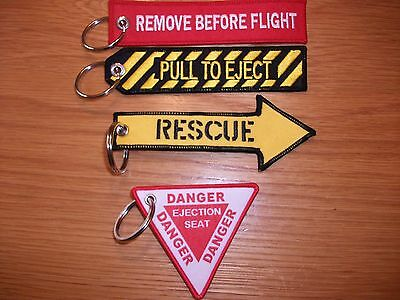 SET OF 4 RAF Remove Before Flight Pull To Eject Rescue Ejection Seat Live ......