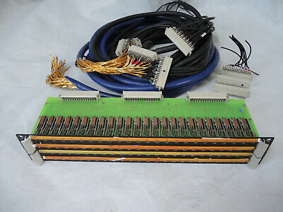 2x Siemens / Mosses & Mitchell Bantam TT Patchbay 48 / 1U - 4.4mm bantam jacks