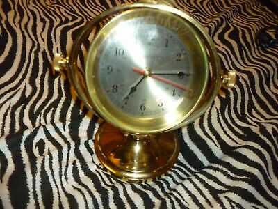 Hampton Brass Clock Very Good Condition!!!