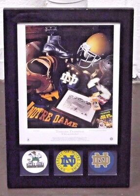 """Notre Dame """"Timeless Traditions"""" Piece - 10"""" x 14"""""""