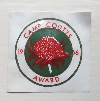 australian scout badges plastic Camp Coutts NSW 1966
