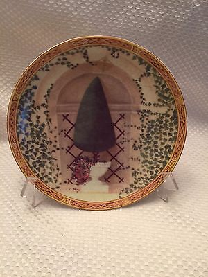 Pyramide Kaiser Plate FANTASY GARDEN Topiary WANDTELLER BEAUTIFUL EUC B