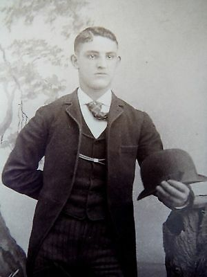 Cabinet Card / Janson's / New Bedford Mass / Elegant man with hat
