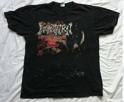 Incantation Dirges Of Elysium Offecial T-Shirt Size Large Used Death Metal Merch