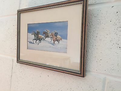"""12"""" x 9"""" horse racing print by s l Crawford"""