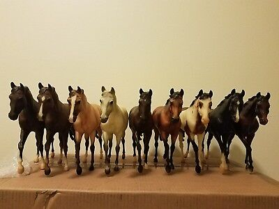 Large lot of 10 Breyer models on the John Henry mold. Instant Collection!