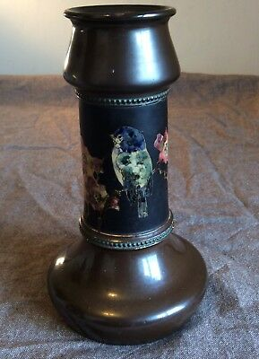 Bretby chinoiserie wasted vase with bird decoration