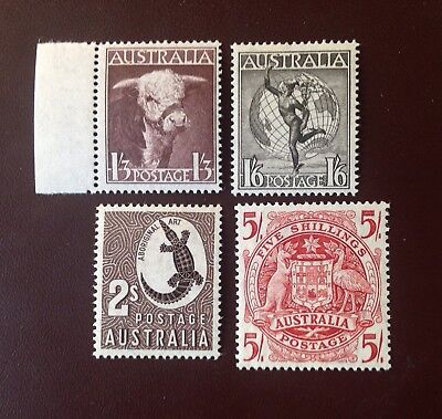 Australia 1948 4 Values SG223-224a MNH